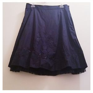 Old Navy Woman's Size 6 Black Skater Skirt